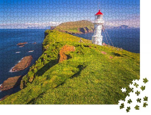 "Puzzle-Motiv ""Leuchtturm, Mykines Insel, Färöer Inseln, Dänemark"" - Puzzle-Schachtel zu 1000 Teile Puzzle"