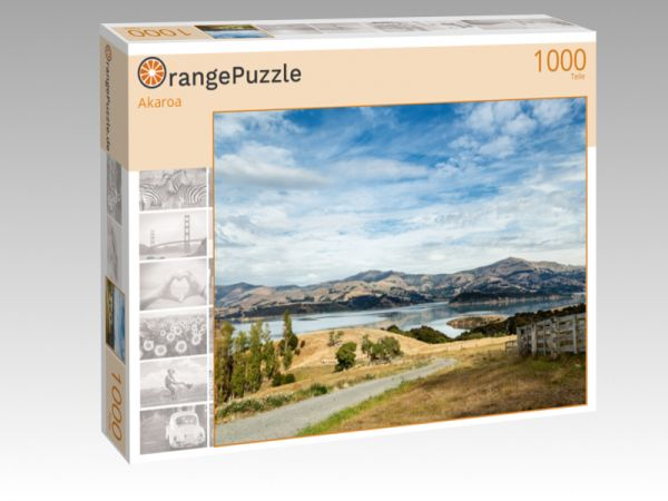 """Puzzle Motiv """"Akaroa"""" - Puzzle-Schachtel zu 1000 Teile Puzzle"""