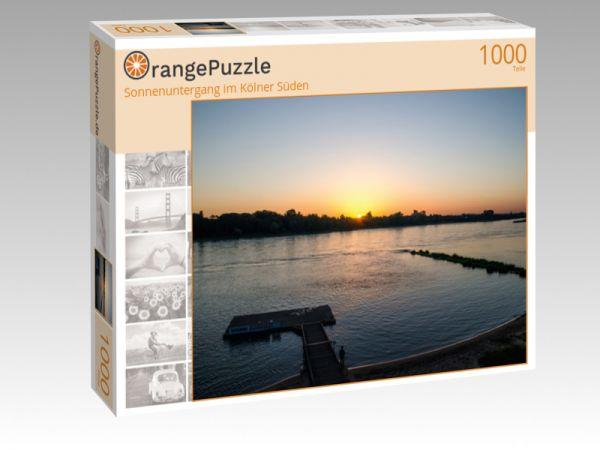 """Puzzle Motiv """"Sonnenuntergang im Kölner Süden"""" - Puzzle-Schachtel zu 1000 Teile Puzzle"""