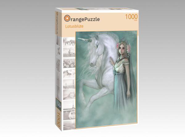 """Puzzle Motiv """"Lotusblüte"""" - Puzzle-Schachtel zu 1000 Teile Puzzle"""