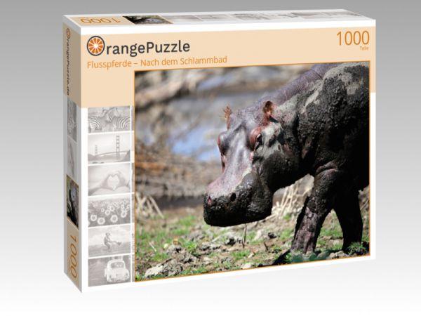 """Puzzle Motiv """"Flusspferde – Nach dem Schlammbad"""" - Puzzle-Schachtel zu 1000 Teile Puzzle"""