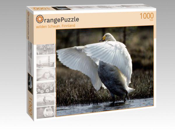 """Puzzle Motiv """"wilden Schwan. Finnland"""" - Puzzle-Schachtel zu 1000 Teile Puzzle"""