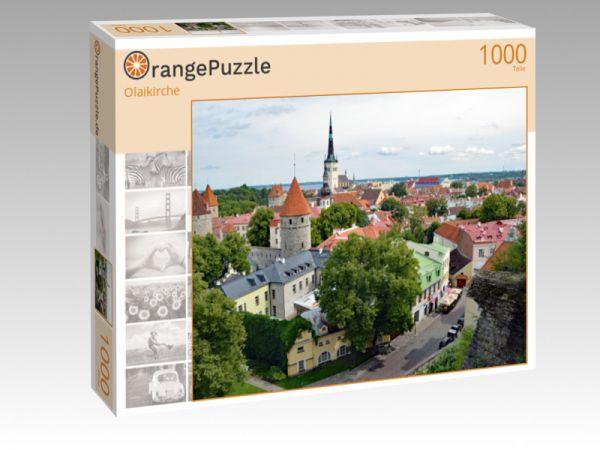 """Puzzle Motiv """"Olaikirche"""" - Puzzle-Schachtel zu 1000 Teile Puzzle"""