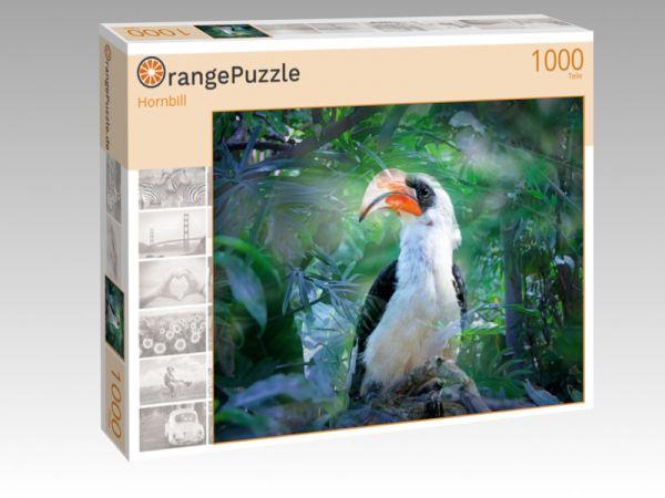 """Puzzle Motiv """"Hornbill"""" - Puzzle-Schachtel zu 1000 Teile Puzzle"""