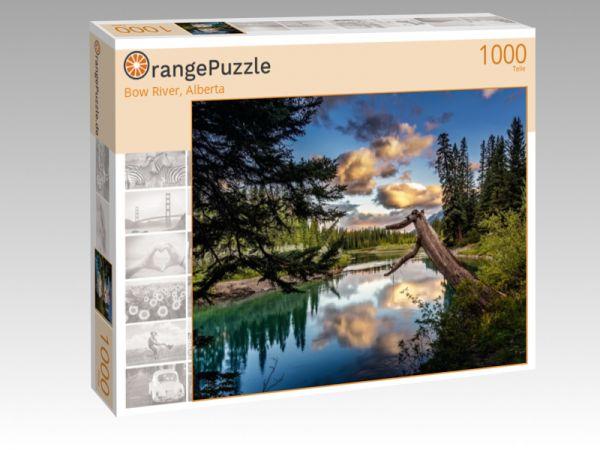 """Puzzle Motiv """"Bow River, Alberta"""" - Puzzle-Schachtel zu 1000 Teile Puzzle"""