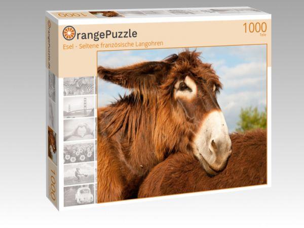 """Puzzle Motiv """"Esel - Seltene französische Langohren"""" - Puzzle-Schachtel zu 1000 Teile Puzzle"""