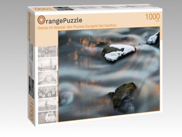 """Puzzle Motiv """"Steine im Wasser des Flusses Eurajoki bei Kauttua"""" - Puzzle-Schachtel zu 1000 Teile Puzzle"""