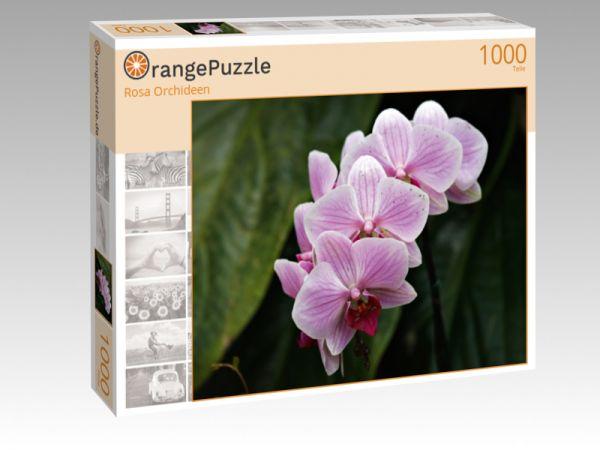 """Puzzle Motiv """"Rosa Orchideen"""" - Puzzle-Schachtel zu 1000 Teile Puzzle"""