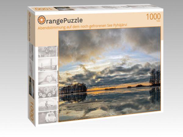 """Puzzle Motiv """"Abendstimmung auf dem noch gefrorenen See Pyhäjärvi"""" - Puzzle-Schachtel zu 1000 Teile Puzzle"""