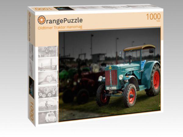"Puzzle Motiv ""Oldtimer Traktor Hanomag"" - Puzzle-Schachtel zu 1000 Teile Puzzle"