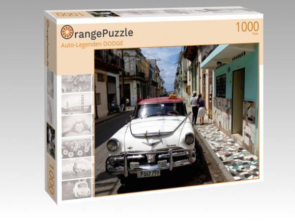 """Puzzle Motiv """"""""Auto-Legenden DODGE"""""""" - Puzzle-Schachtel zu 1000 Teile Puzzle"""