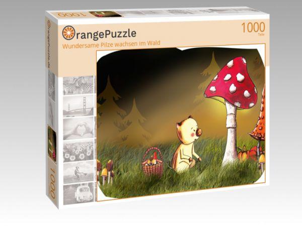 "Puzzle Motiv ""Wundersame Pilze wachsen im Wald"" - Puzzle-Schachtel zu 1000 Teile Puzzle"