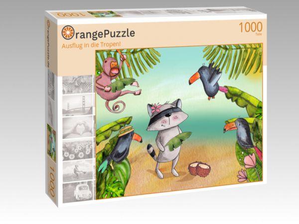 """Puzzle Motiv """"Ausflug in die Tropen!"""" - Puzzle-Schachtel zu 1000 Teile Puzzle"""