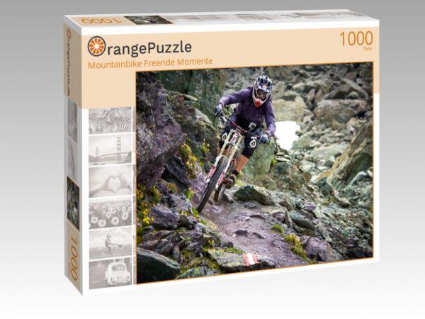"""Puzzle Motiv """"Mountainbike Freeride Momente"""" - Puzzle-Schachtel zu 1000 Teile Puzzle"""