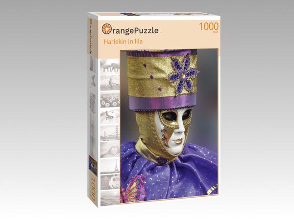 "Puzzle Motiv ""Harlekin in lila"" - Puzzle-Schachtel zu 1000 Teile Puzzle"