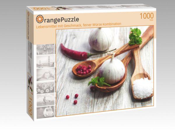 """Puzzle Motiv """"Lebensmittel mit Geschmack, feiner Würze Kombination"""" - Puzzle-Schachtel zu 1000 Teile Puzzle"""
