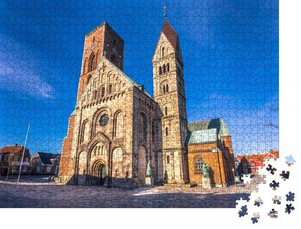 """Puzzle-Motiv """"Kathedrale von Ribe, Dänemark"""" - Puzzle-Schachtel zu 1000 Teile Puzzle"""