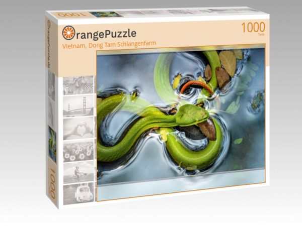 "Puzzle Motiv ""Vietnam, Dong Tam Schlangenfarm"" - Puzzle-Schachtel zu 1000 Teile Puzzle"