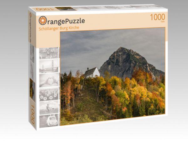 "Puzzle Motiv ""Schöllanger Burg Kirche"" - Puzzle-Schachtel zu 1000 Teile Puzzle"