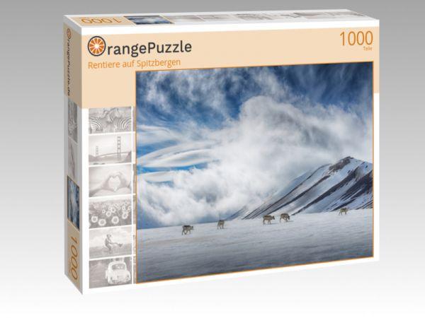 """Puzzle Motiv """"Rentiere auf Spitzbergen"""" - Puzzle-Schachtel zu 1000 Teile Puzzle"""