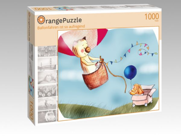 "Puzzle Motiv ""Ballonfahren ist so aufregend"" - Puzzle-Schachtel zu 1000 Teile Puzzle"