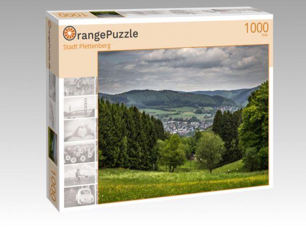 """Puzzle Motiv """"Stadt Plettenberg"""" - Puzzle-Schachtel zu 1000 Teile Puzzle"""