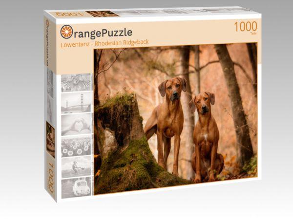 """Puzzle Motiv """"Löwentanz - Rhodesian Ridgeback"""" - Puzzle-Schachtel zu 1000 Teile Puzzle"""