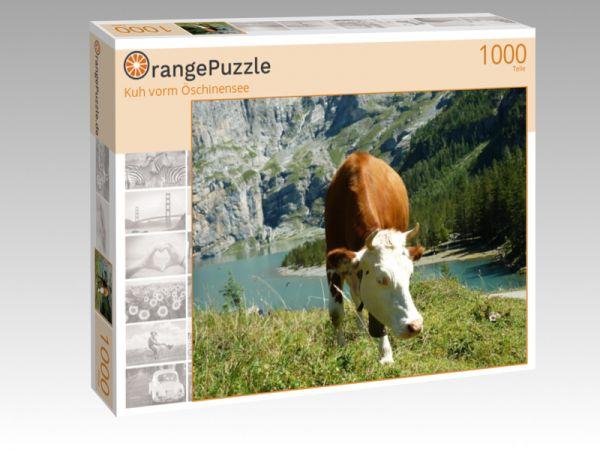 "Puzzle Motiv ""Kuh vorm Öschinensee"" - Puzzle-Schachtel zu 1000 Teile Puzzle"