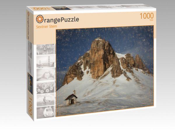 """Puzzle Motiv """"Sextner Stein"""" - Puzzle-Schachtel zu 1000 Teile Puzzle"""