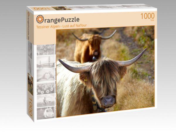 """Puzzle Motiv """"Tessiner Alpen - Lust auf NaTour"""" - Puzzle-Schachtel zu 1000 Teile Puzzle"""
