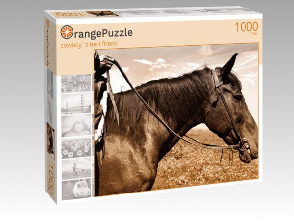 """Puzzle Motiv """"cowboy´s best friend"""" - Puzzle-Schachtel zu 1000 Teile Puzzle"""