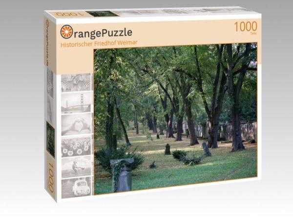 """Puzzle Motiv """"Historischer Friedhof Weimar"""" - Puzzle-Schachtel zu 1000 Teile Puzzle"""