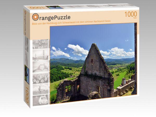 """Puzzle Motiv """"Blick von der Hochburg zum Schwarzwald mit dem schönen Nachbarort Sexau"""" - Puzzle-Schachtel zu 1000 Teile Puzzle"""