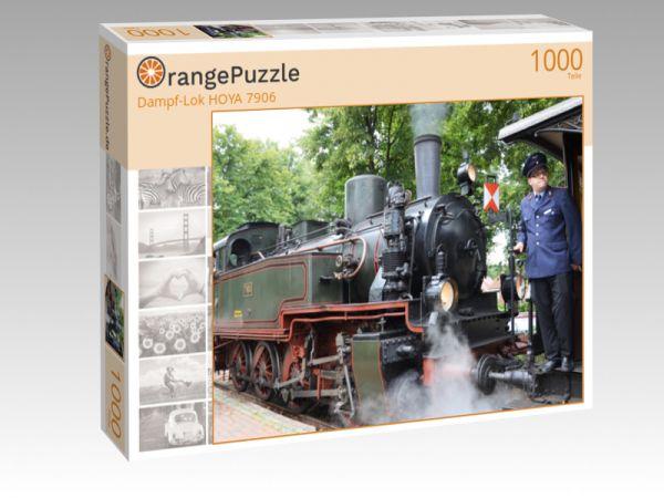 """Puzzle Motiv """"Dampf-Lok HOYA 7906"""" - Puzzle-Schachtel zu 1000 Teile Puzzle"""