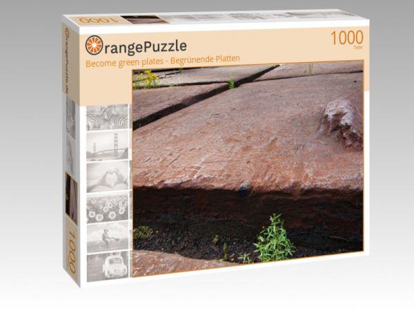 """Puzzle Motiv """"Become green plates - Begrünende Platten"""" - Puzzle-Schachtel zu 1000 Teile Puzzle"""