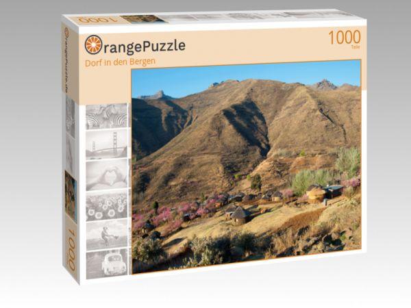 """Puzzle Motiv """"Dorf in den Bergen"""" - Puzzle-Schachtel zu 1000 Teile Puzzle"""