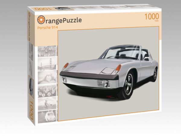 """Puzzle Motiv """"Porsche 914"""" - Puzzle-Schachtel zu 1000 Teile Puzzle"""