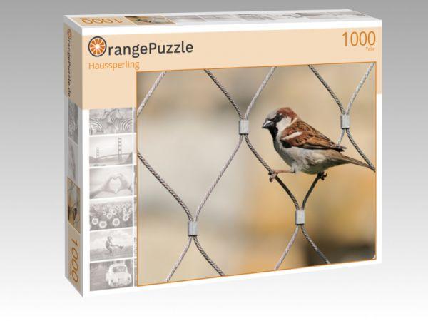 """Puzzle Motiv """"Haussperling"""" - Puzzle-Schachtel zu 1000 Teile Puzzle"""