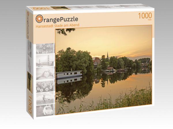 "Puzzle Motiv ""Hansestadt Stade am Abend"" - Puzzle-Schachtel zu 1000 Teile Puzzle"