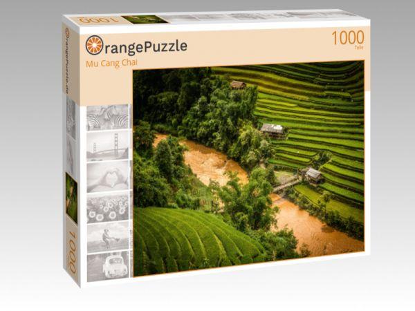 """Puzzle Motiv """"Mu Cang Chai"""" - Puzzle-Schachtel zu 1000 Teile Puzzle"""