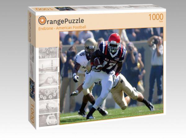 """Puzzle Motiv """"Endzone - American Football"""" - Puzzle-Schachtel zu 1000 Teile Puzzle"""