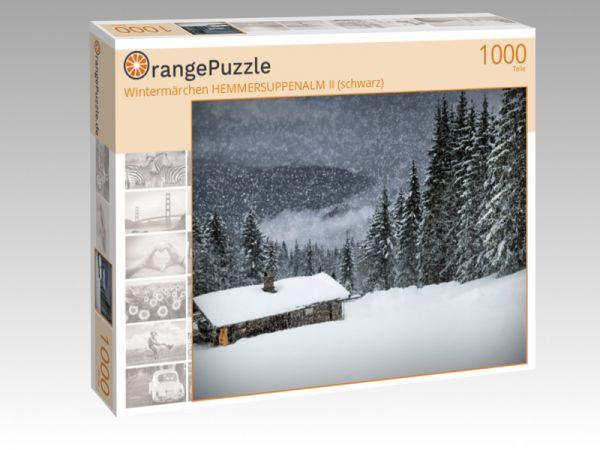 """Puzzle Motiv """"Wintermärchen HEMMERSUPPENALM II (schwarz)"""" - Puzzle-Schachtel zu 1000 Teile Puzzle"""