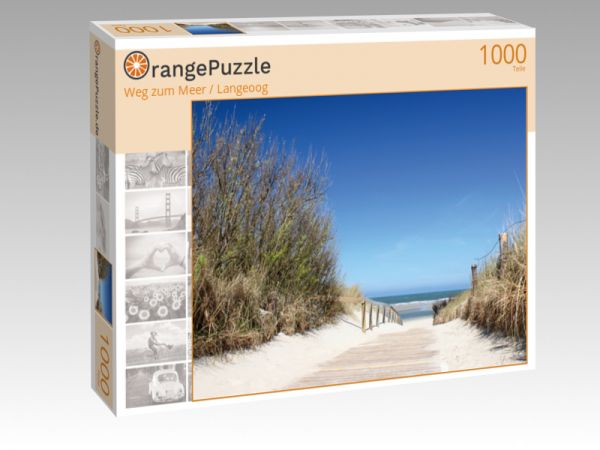 """Puzzle Motiv """"Weg zum Meer / Langeoog"""" - Puzzle-Schachtel zu 1000 Teile Puzzle"""