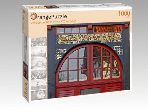 """Puzzle Motiv """"Vierständerhaus von 1777 in Exten"""" - Puzzle-Schachtel zu 1000 Teile Puzzle"""