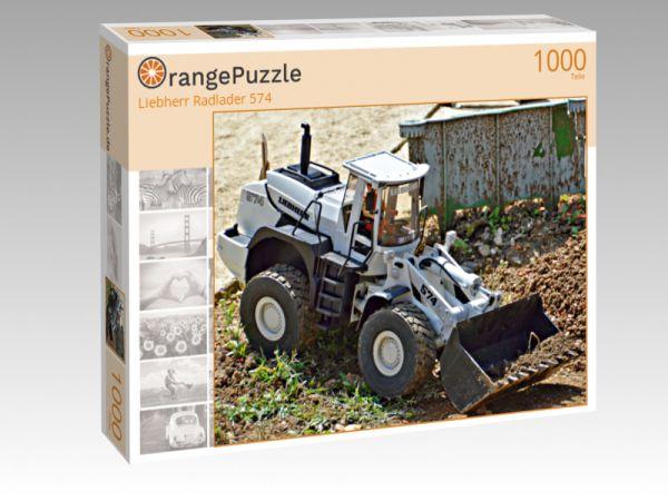 """Puzzle Motiv """"Liebherr Radlader 574"""" - Puzzle-Schachtel zu 1000 Teile Puzzle"""