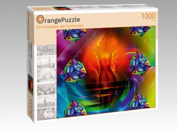 """Puzzle Motiv """"Ein Feuerwerk der Emotionen"""" - Puzzle-Schachtel zu 1000 Teile Puzzle"""