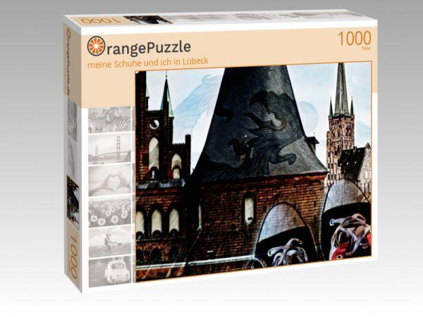 """Puzzle Motiv """"meine Schuhe und ich in Lübeck"""" - Puzzle-Schachtel zu 1000 Teile Puzzle"""