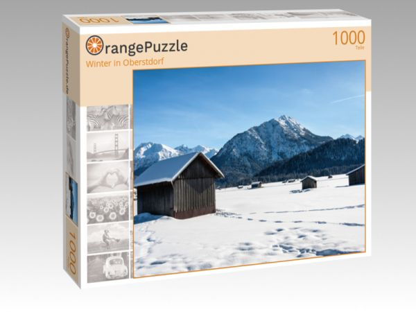 """Puzzle Motiv """"Winter in Oberstdorf"""" - Puzzle-Schachtel zu 1000 Teile Puzzle"""
