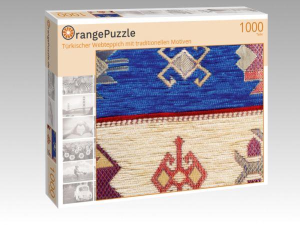 """Puzzle Motiv """"Türkischer Webteppich mit traditionellen Motiven"""" - Puzzle-Schachtel zu 1000 Teile Puzzle"""