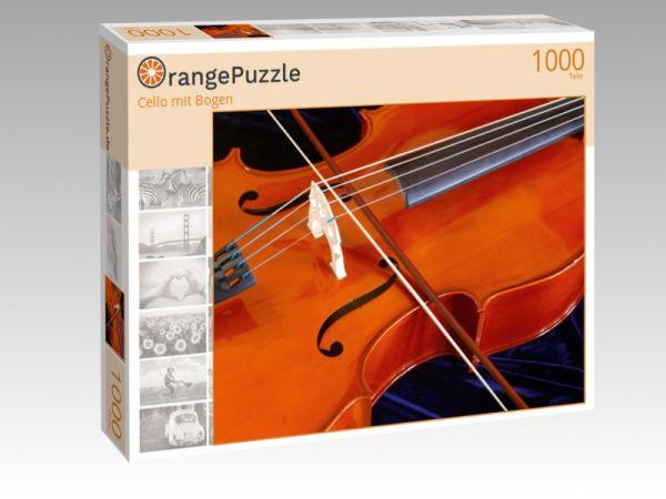 """Puzzle Motiv """"Cello mit Bogen"""" - Puzzle-Schachtel zu 1000 Teile Puzzle"""